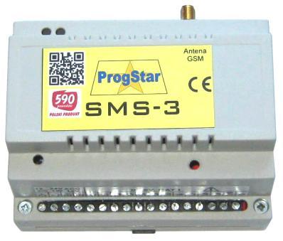 Moduł powiadomienie SMS-3 w obudowie na szynę DIN